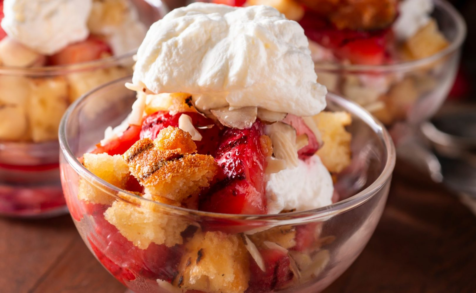 Strawberry Parfait with Whipped Cream