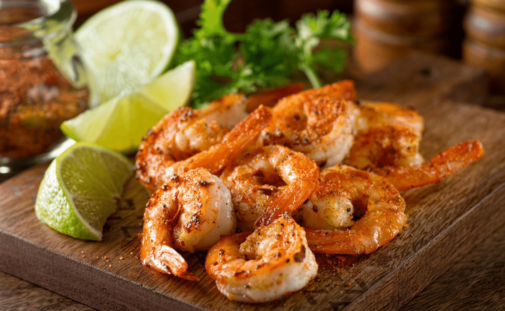 Cajun lime grilled shrimps